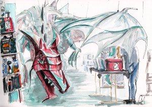 Jubilee Library dragon