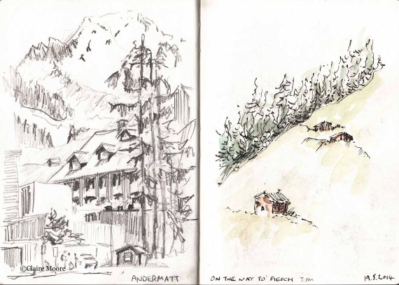 Andermatt and journey to Fiesch
