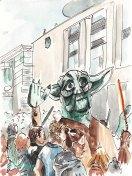 Children's parade yoda