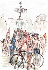 Naked Bike ride Old Steine