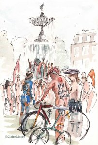 Naked Bike ride Old Steine